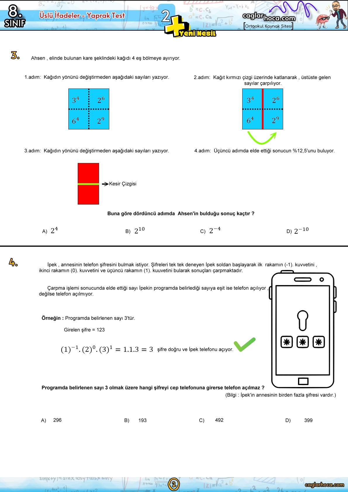 üslü sayılar,üslü sayılar konu anlatımı,üslü sayılar soru çözümü,üslü sayilar,lgs üslü sayılar,üslü ifadeler,üslü sayılar 8. sınıf,üslü sayılarda sıralama,üslü sayilar soru çözümü